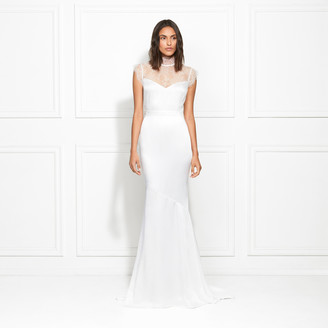 Rachel Zoe Lanette Duchess Crepe and Lace Gown