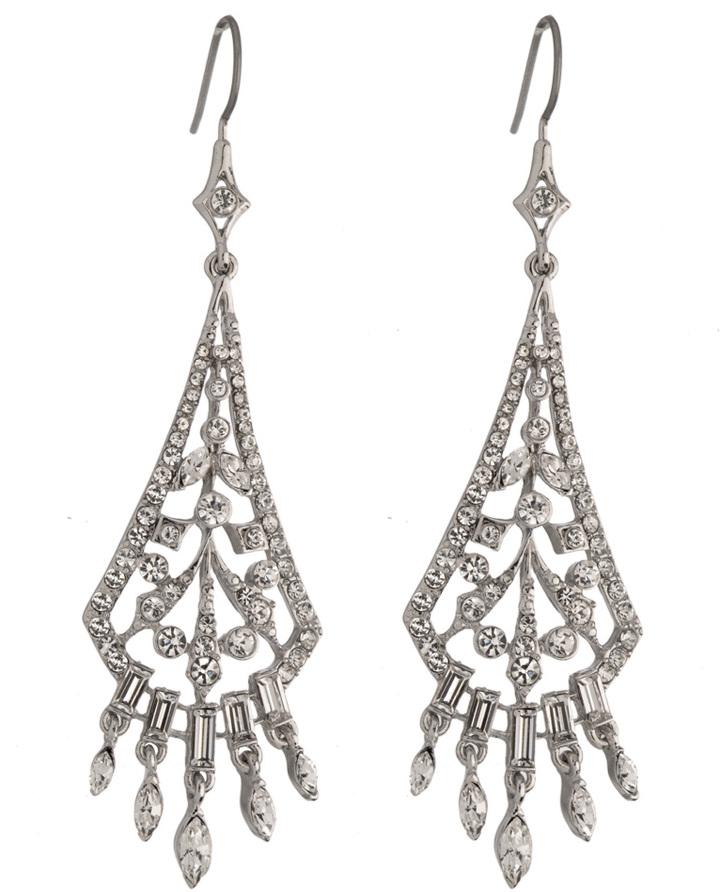 Carolee Austrian Crystal Chandelier Earrings