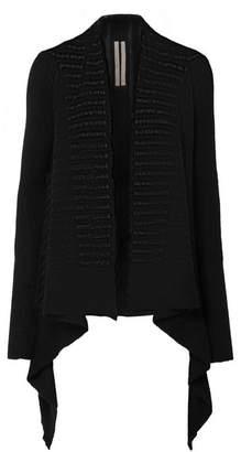 Rick Owens Open-knit Alpaca-blend Cardigan - Black