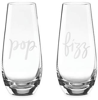 Kate Spade Two-Piece Pop & Fizz Stemless Champagne Flutes Set