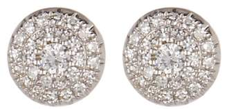 Ron Hami 14K White Gold Pave Diamond Halo Stud Earrings - 0.19 ctw