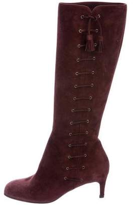 Bruno Magli Suede Lace-Up Boots