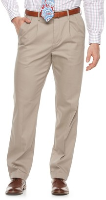 Croft & Barrow Men's Classic-Fit Pleated No-Iron Stretch Pants