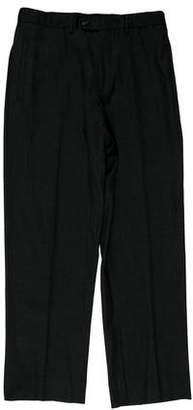 Prada Flat Front Wool Pants