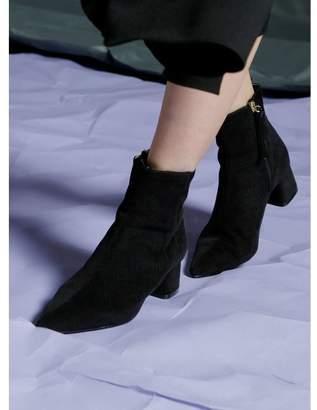 ミエリインヴァリアント Corduroy Lowheel Boots
