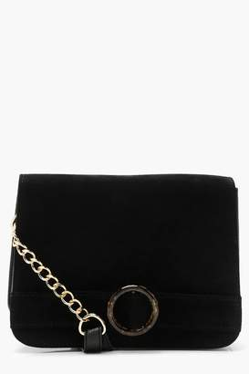 boohoo Tortoiseshell Resin Structured Cross Body