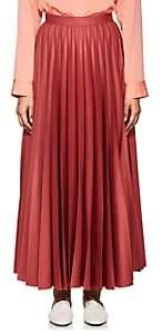 The Row Women's Vailen Pleated Wool Skirt-Rosewood