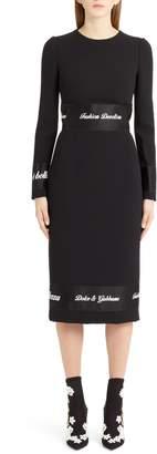 Dolce & Gabbana Fashion Devotion Sheath Dress