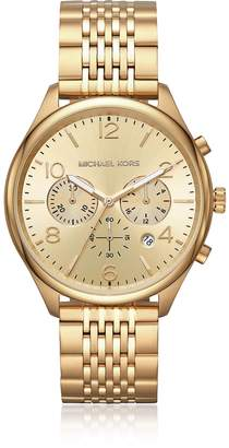 Michael Kors Merrick Gold Tone Chronograph Watch