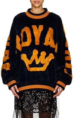 "Dolce & Gabbana Women's ""Royal"" Faux-Fur Sweatshirt"