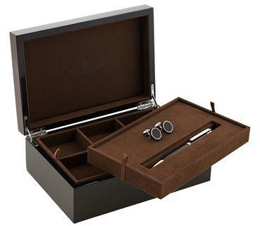 mens jewellery box shopstyle tateossian carbon fibre pen and cufflinks gift set