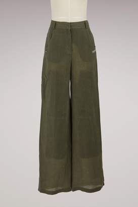 Off-White Off White Linen military pants