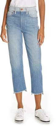 Alice + Olivia Jeans Amazing Two-Tone Girlfriend Jeans