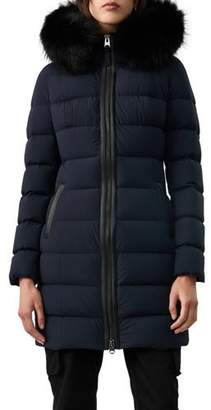 Mackage Calla Fur-Trim Hooded Puffer Coat