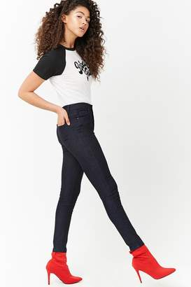 Forever 21 Mid-Rise Stretch Denim Skinny Jeans