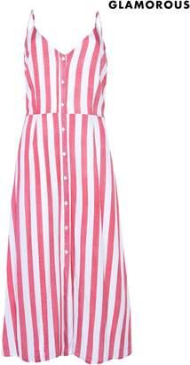 Next Womens Glamorous Button Front Midi Dress