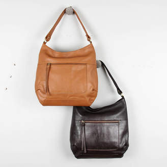 The Leather Store India Leather Zip Hobo Tote