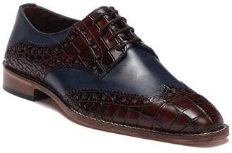 Stacy Adams Tomaselli Croc Embossed Leather Wingtip Oxford