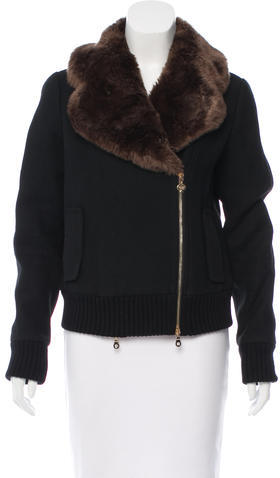 Kate SpadeKate Spade New York Faux-Fur Trimmed Jacket