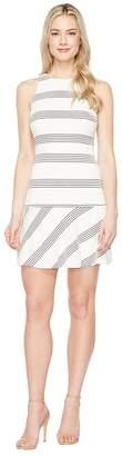 Jessica Simpson Textured Knit Drop Waist Dress Women's Dress
