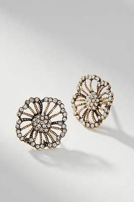 Azaara Crystal Flower Post Earrings
