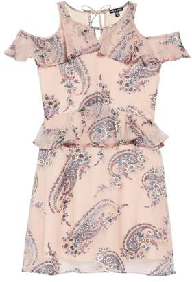 Ava & Yelly Paisley Cold Shoulder Dress