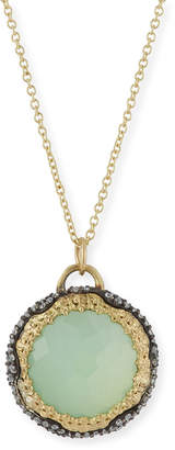 Armenta Old World Midnight Doublet & Diamond Pendant Necklace