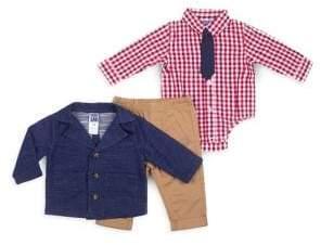 Boys Rock Baby Boy's Three-Piece Jacket, Shirt Bodysuit & Pants Set