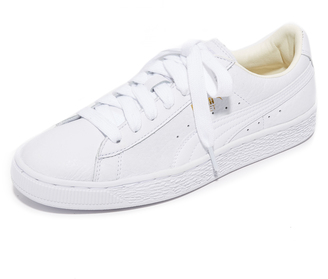 PUMA Basket Classic Low Top Sneakers $70 thestylecure.com