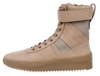 Fear Of God Leather Military Combat Boots tan Leather Military Combat Boots