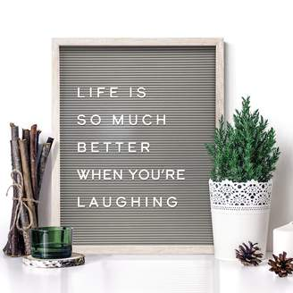 """New View 20"""" x 16"""" Gray Letter Board Wall Decor 190-piece Set"""