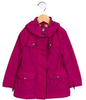 Burberry Girls' Hooded Lightweight Jacket