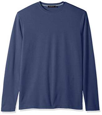 Bugatchi Men's Long Sleeve Breathable Microfiber Classic Fit Solid Shirt