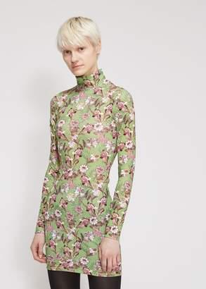 Vetements Green Flowers Body Dress