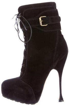 Brian Atwood Lace-Up Platform Boots $355 thestylecure.com