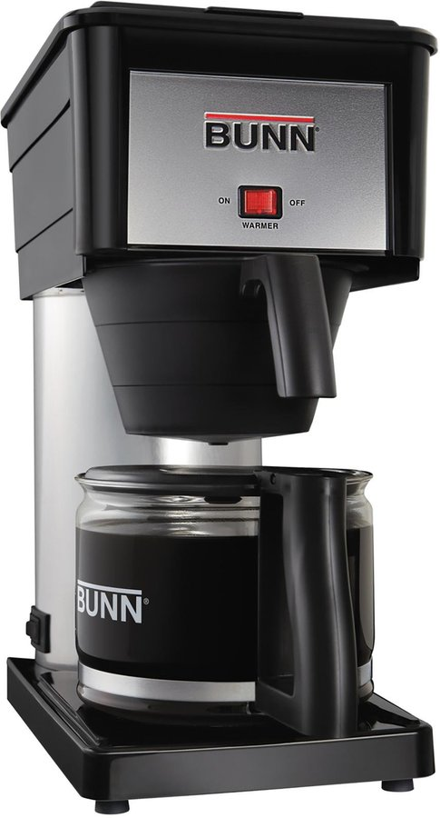 Bunn Classic Home Coffee Brewer - BX-B - Black/Stainless - 10-Cup