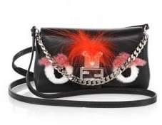 Fendi Micro Rabbit& Fox Fur Leather Baguette Bag