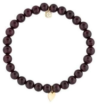 Sydney Evan 14K Garnet Bead Bracelet
