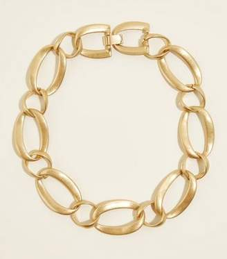 New Look Gold Contrast Oval Chain Necklace
