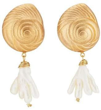 Eliza J Brinker & Women's Golden Ticket Earrings - Gold