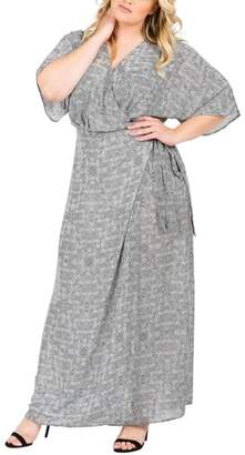 Standards & Practices Olivia Print Wrap Maxi Dress