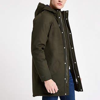 River Island Minimum green parka jacket