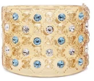 Gucci Resin Crystal Cuff - Womens - Ivory