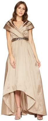Adrianna Papell Silky Taffeta Shawl Gown Women's Dress