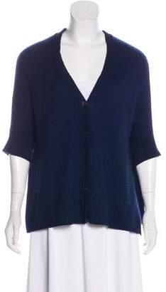 360 Cashmere Oversize Short Sleeve Knit Cardigan