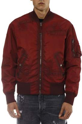 Diesel Black Gold Red Nylon Bomber
