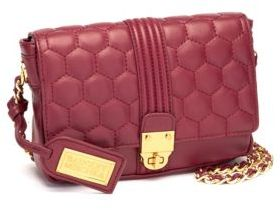 Badgley Mischka Quilt-Stitched Leather Crossbody Bag