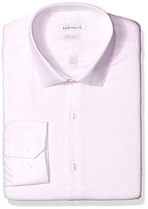 Perry Ellis Men's Slim Fit Performance Wrinkle Free Dress Shirt