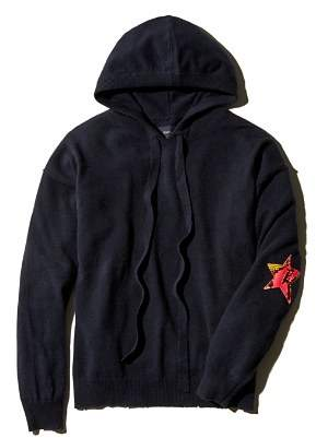 Zadig & Voltaire Nox Patch Hooded Cashmere Sweater