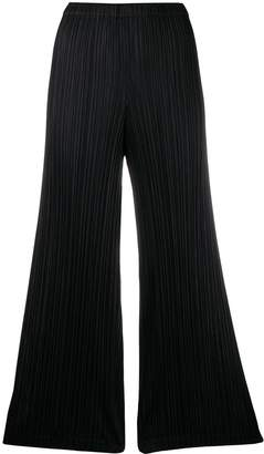 Pleats Please Issey Miyake micro-pleated cropped trousers
